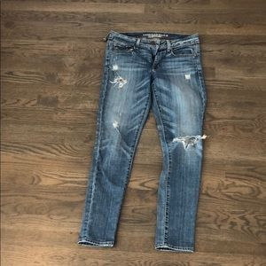 Women's American Eagle jeans with rips